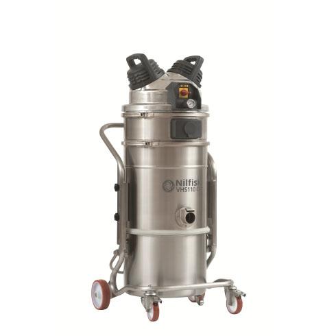 4012300007 VHS110CR NELFISK Пылесос для чистых и стерильных помещений ИСО 4-8.Нержавеющая сталь, допускается автоклавирование. Пылесборник для сухого и влажного мусора 37л,комплектуется фильтром HEPA13,ULPA15
