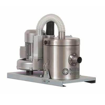 4041100381 VHW200X NELFISK Стационарный пылесос для автоматизированных производственных линий чистых помещений ИСО 7-8. Пылесборник для сухого мусора 1л,комплектуется фильтром HEPA14,L CLASS POLYESTER. Вариант исполнения- нержавеющая сталь