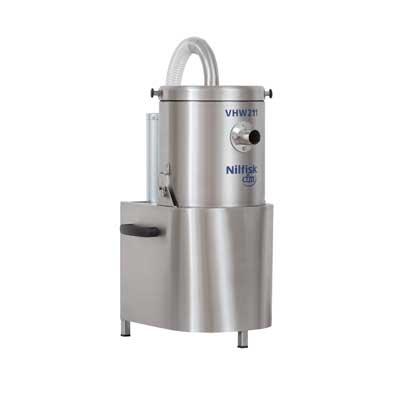 4041100393 VHW201TXX NELFISK Стационарный пылесос для автоматизированных производственных линий чистых помещений ИСО 7-8. Пылесборник для сухого мусора 6.5л,комплектуется фильтром HEPA14,L CLASS POLYESTER. Вариант исполнения -нержавеющая сталь. В частном случае может использоваться для уборки в помещении