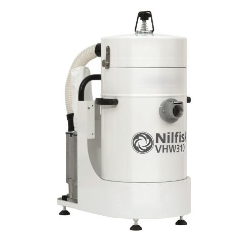 4041100304 VHW310 NELFISK Стационарный пылесос для автоматизированных производственных линий чистых помещений ИСО 7-8. Пылесборник для сухого мусора 15л,комплектуется фильтром HEPA14,L CLASS POLYESTER. В частном случае может использоваться для уборки в помещении